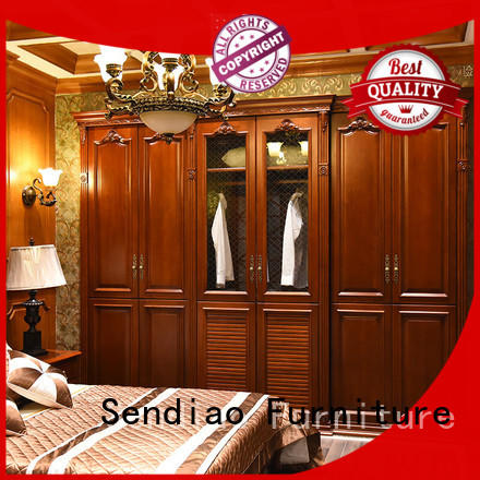 Sendiao Furniture Promotion wooden clothes closet solid Fivestar Hotel