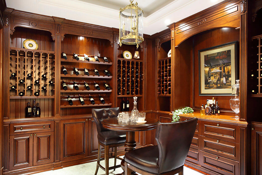 solid wooden wine cabinets furniture elegance Study Sendiao Furniture-3