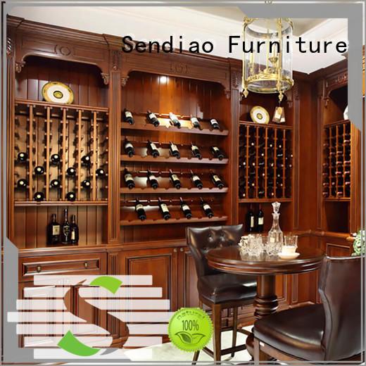 Sendiao Furniture sdwi03 solid wood wine cabinet company study