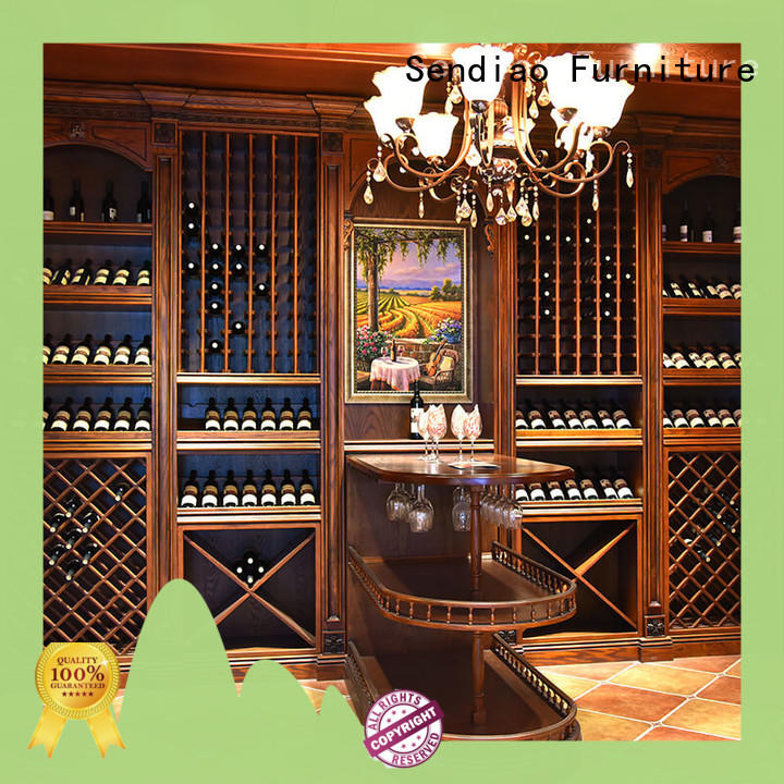 Sendiao Furniture Custom wood wine cabinet for business exhibition hall