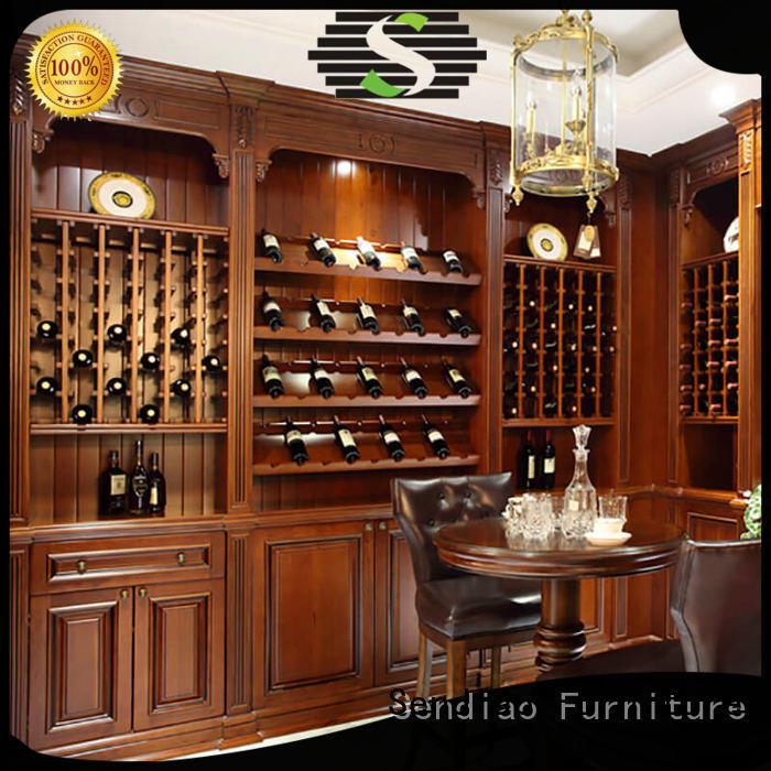 Sendiao Furniture Custom solid wood wine cabinet for business bedroom