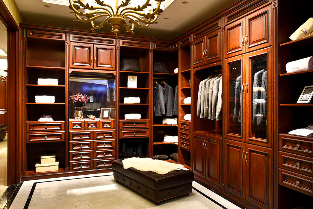 Custom solid wood wardrobes luxury factory exhibition hall-2