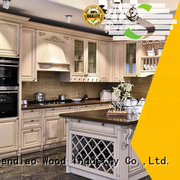 Sendiao Furniture sdk05 solid wood kitchen cabinets manufacturers exhibition hall
