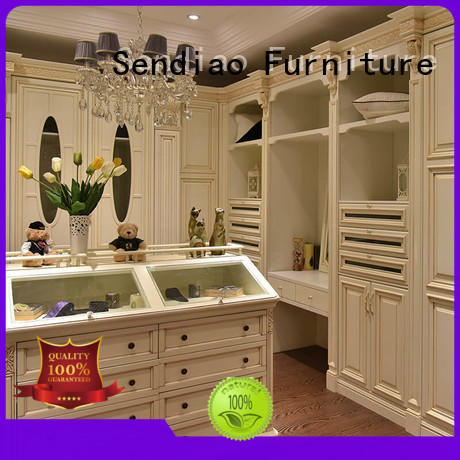 Sendiao Furniture New products wooden cupboard for clothes solid A living room