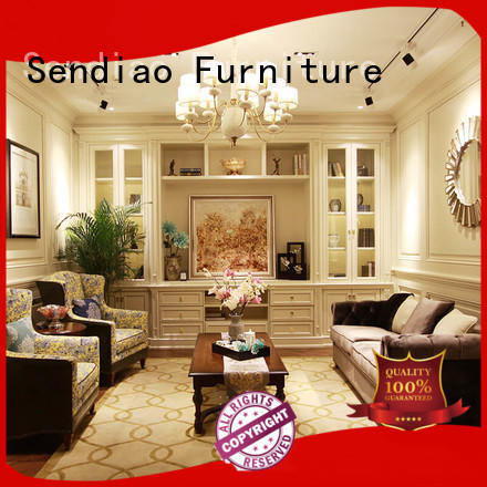 simple decorative cabinets for living room classical Study Sendiao Furniture