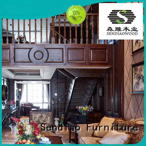 modular wooden spiral staircase solid Exhibition hall Sendiao Furniture