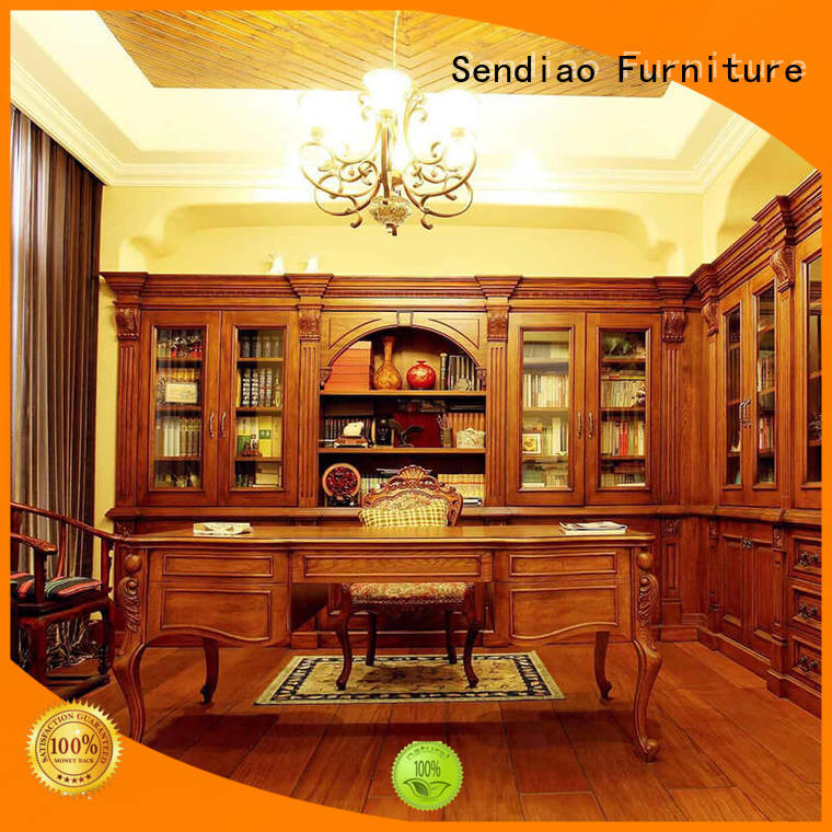 classical wooden bookcase threepiece factory chateau