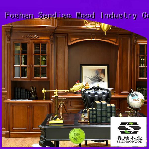 Sendiao Furniture Brand combination study custom living room cabinets manufacture