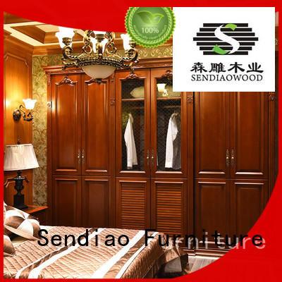 cabinet wooden wardrobe low price Four Star Hotel Sendiao Furniture