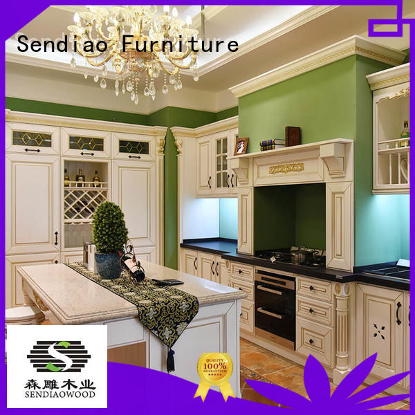 sdk06 real wood kitchen cabinets sdk10 Chateau Sendiao Furniture