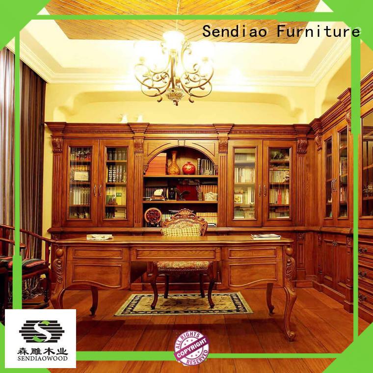 Sendiao Furniture cabinet wooden bookcase Promotion Fivestar Hotel