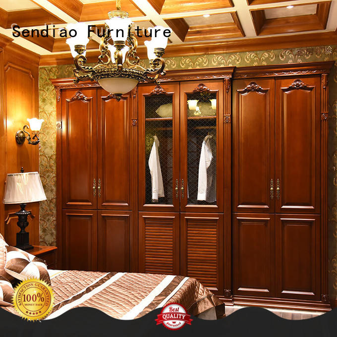 Sendiao Furniture Best wooden clothes wardrobe Suppliers bedroom