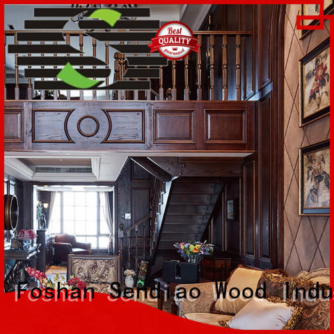 Sendiao Furniture low price wooden spiral staircase company chateau