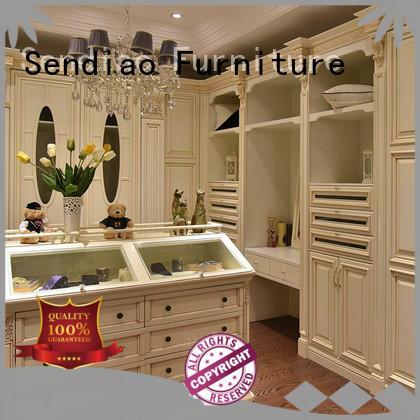 sdw05 solid wood wardrobes Simplicity Bedroom Sendiao Furniture