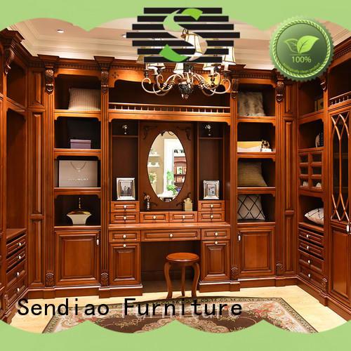Sendiao Furniture cabinet wooden wardrobe Supply bedroom