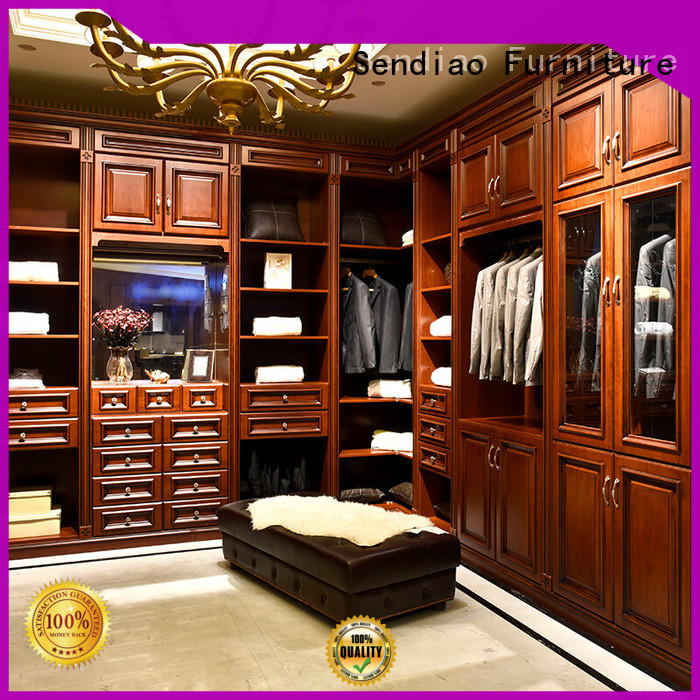 Custom solid wood wardrobes luxury factory exhibition hall