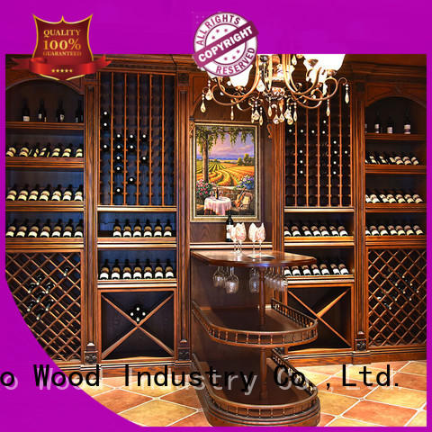 The latest generation wood wine rack cabinet antique classical Chateau