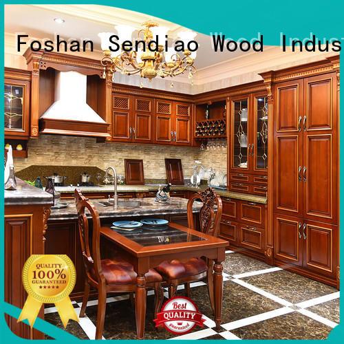 Sendiao Furniture artificial custom kitchen cabinets supply fivestar hotel