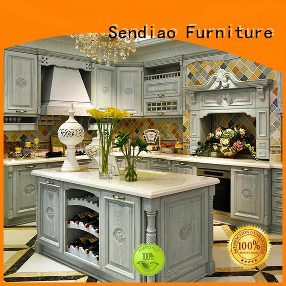 Sendiao Furniture kitchen custom wood kitchen cabinets for business three-star hotel