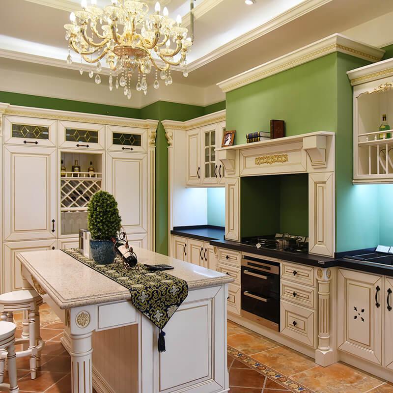 luxury modern cabinets supplier irch solid wood cabinet american kitchen design SDK02