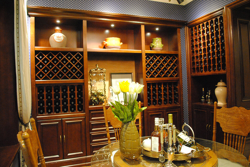 Sendiao Furniture Top solid wood wine cabinet factory four-star hotel-2