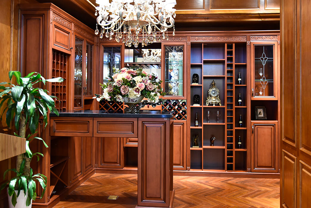 Sendiao Furniture Top solid wood wine cabinet factory four-star hotel-3