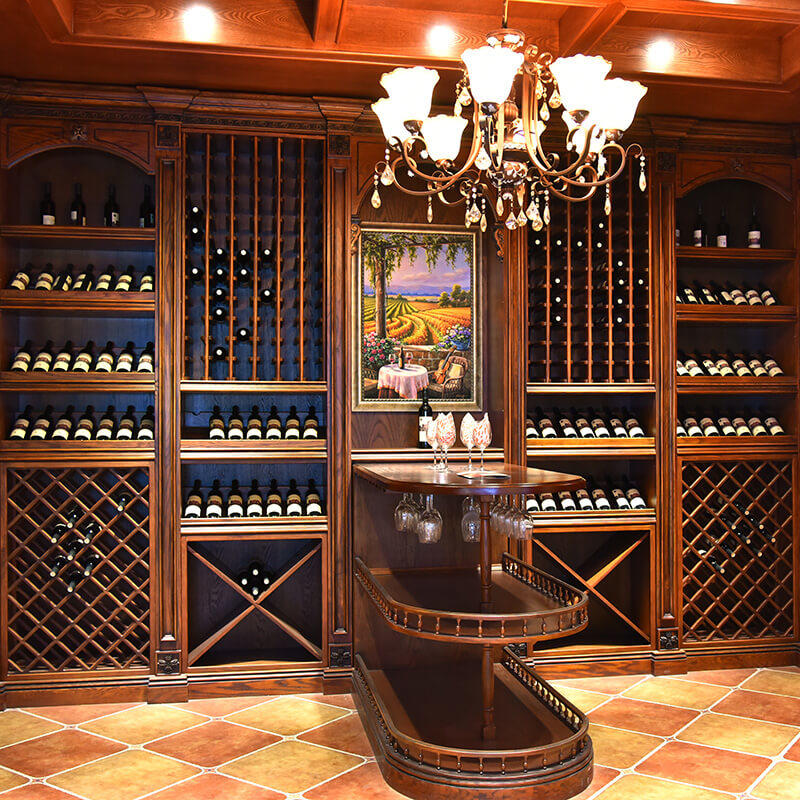 Customized antique solid wood wine storage cabinet SDWI03