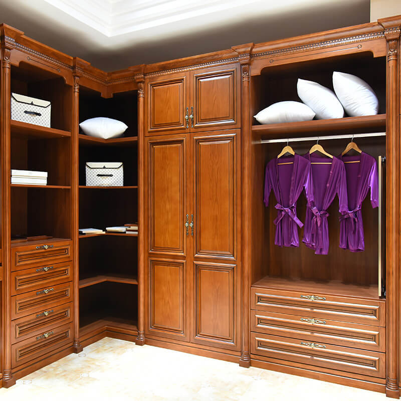 Foshan manufacture luxury solid wood bedroom joinery wardrobe SDW01