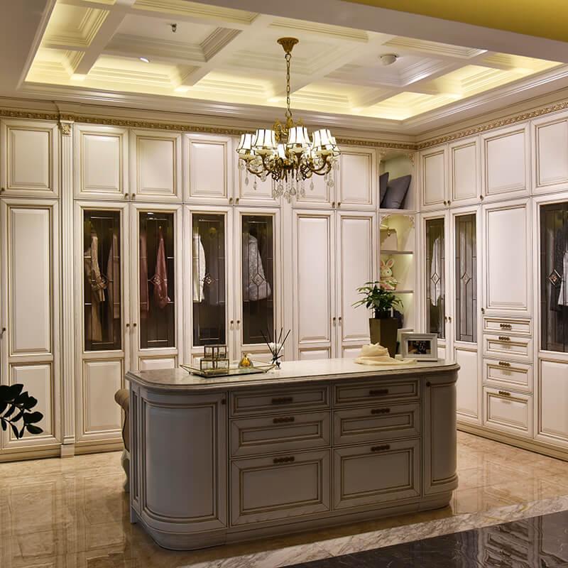 Europe syle solid wood modular bedroom furniture wardrobe cabinet SDW05
