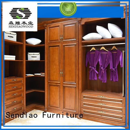 sdw02 wooden clothes wardrobe sdw05 A living room Sendiao Furniture