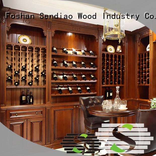 Sendiao Furniture red wine rack cabinet for business exhibition hall