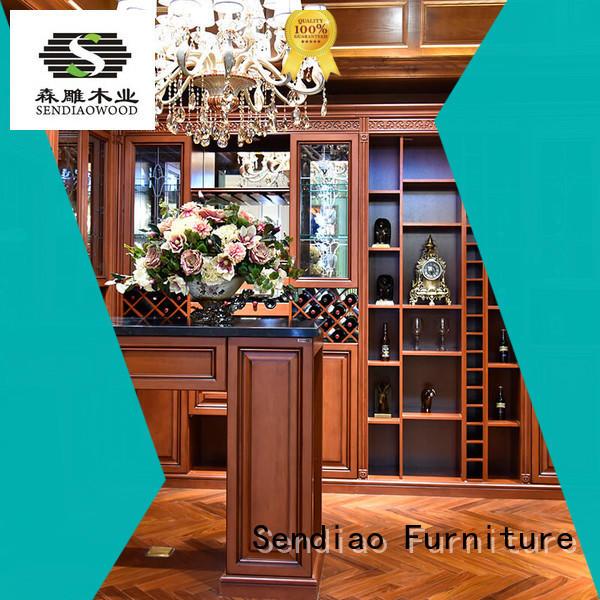 Sendiao Furniture cabinet wood wine cabinet elegance Four Star Hotel