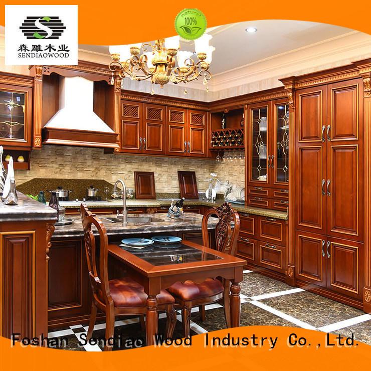 real wood kitchen cabinets freedom Chateau Sendiao Furniture