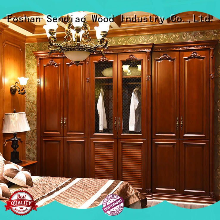 Sendiao Furniture low price cheap wooden wardrobe solid Four Star Hotel