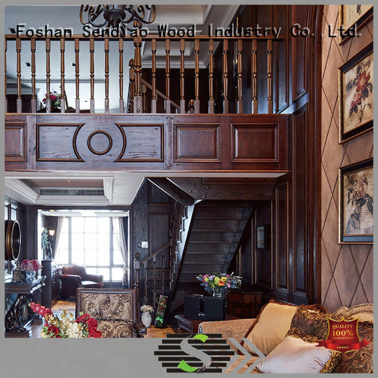 High-quality wooden staircases stairs for business a living room