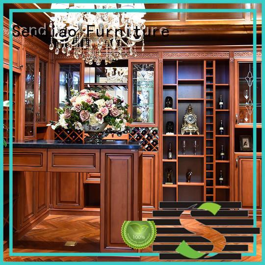 Sendiao Furniture Brand oak red white wine cabinet solid