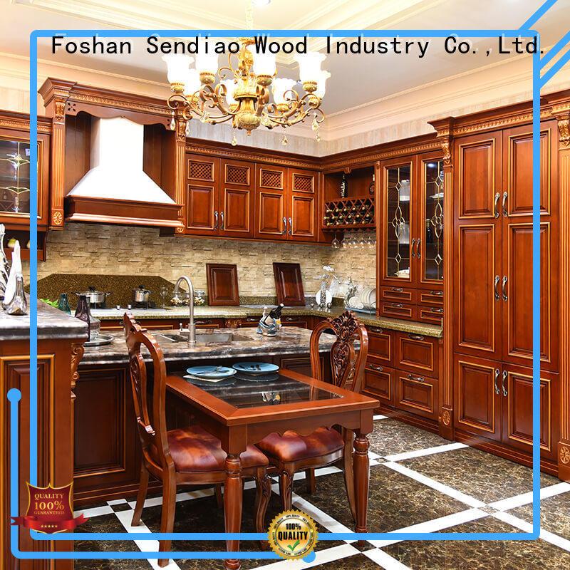Wholesale custom wood kitchen cabinets sdk09 manufacturers fivestar hotel