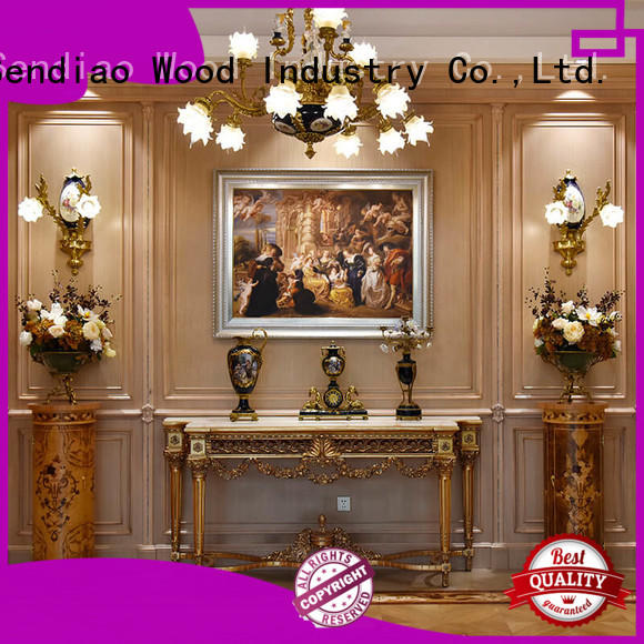 Sendiao Furniture sdd04 decorative wood molding for walls New products A living room
