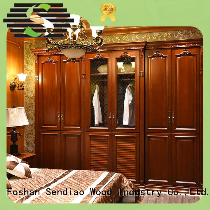 elegance wooden clothes closet American style Three-star Hotel Sendiao Furniture