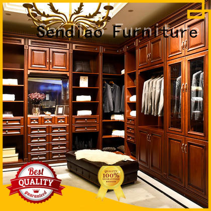 Sendiao Furniture elegance wood furniture wardrobe low price Chateau