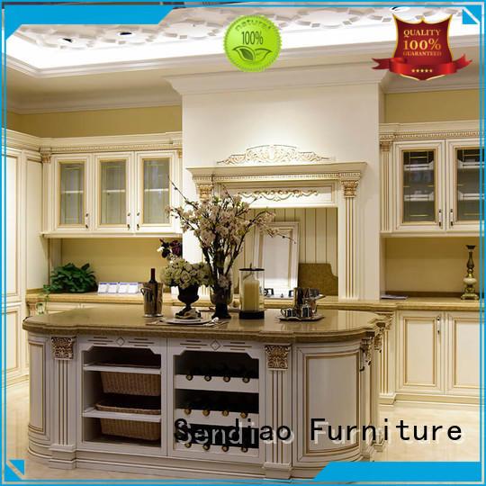 Sendiao Furniture modular custom wood kitchen cabinets American style Three-star Hotel