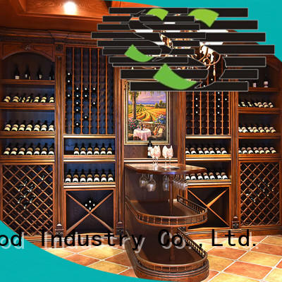 elegance solid wood wine cabinet red suppliers four-star hotel