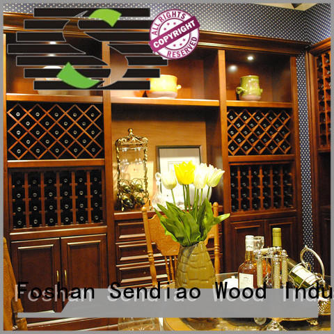 Sendiao Furniture elegance wooden wine cabinets furniture oak Chateau