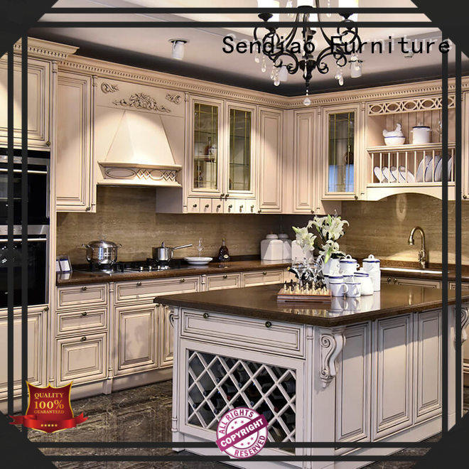 Sendiao Furniture modular wooden kitchen cupboards manufacturers three-star hotel