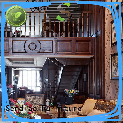 Sendiao Furniture low price wooden spiral staircase suppliers four-star hotel