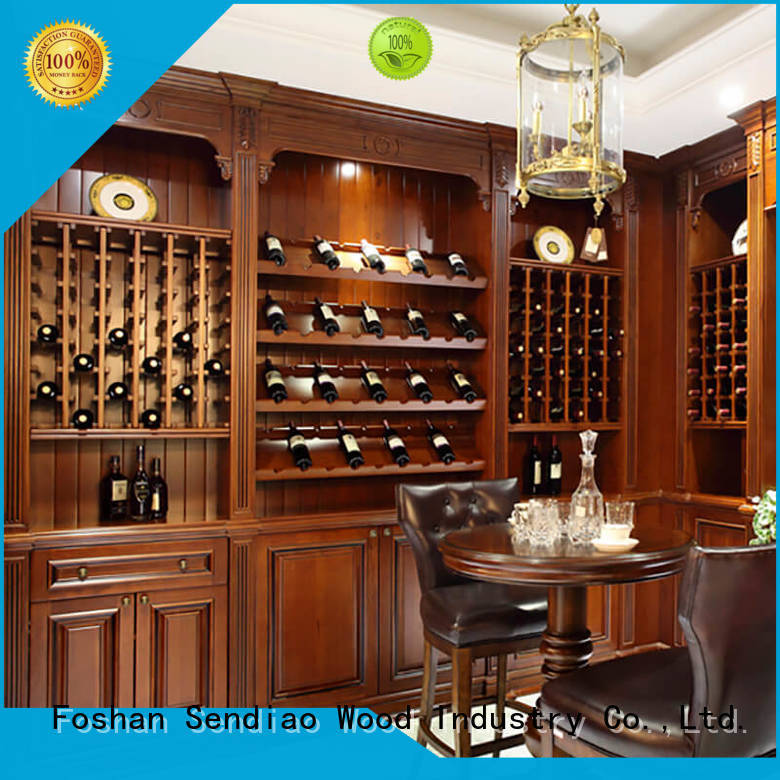 New wood wine cabinet sdwi03 company exhibition hall