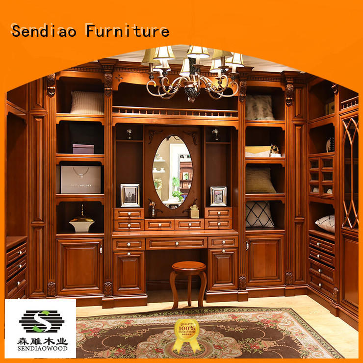 joinery wooden cabinet for clothes sdw01 Bedroom Sendiao Furniture