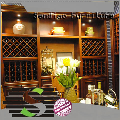 Sendiao Furniture wood wine rack cabinet New products Four Star Hotel