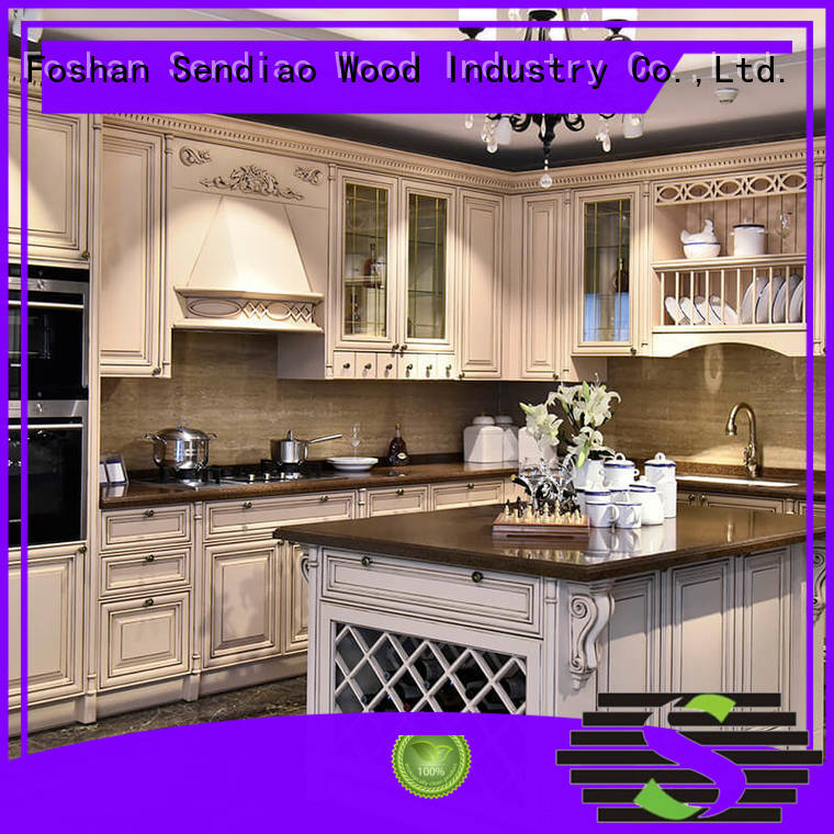 modern custom made kitchen cabinets New products Study Sendiao Furniture