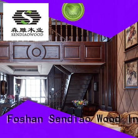 Sendiao Furniture sds03 wooden spiral staircase elegance Study